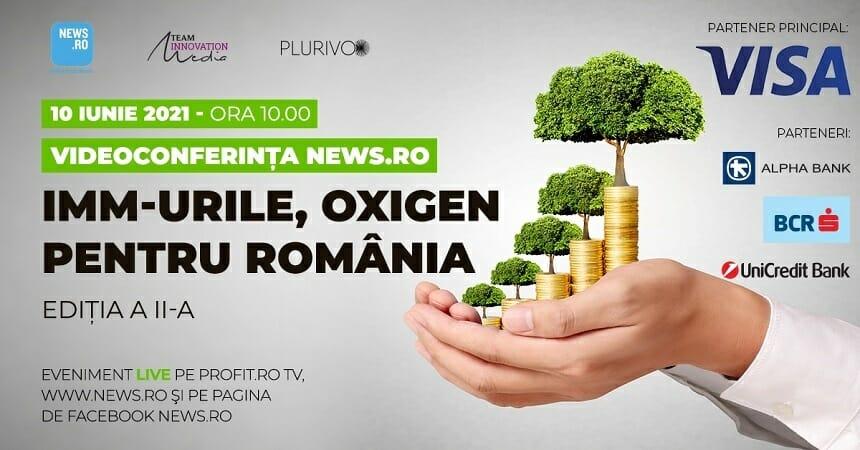 """Ministrul Antreprenoriatului Claudiu Năsui şi preşedintele Consiliului Naţional al IMM Florin Jianu participă la videoconferinţa News.ro """"IMM-urile, oxigen pentru România""""- ediţia a II-a – VIDEO"""