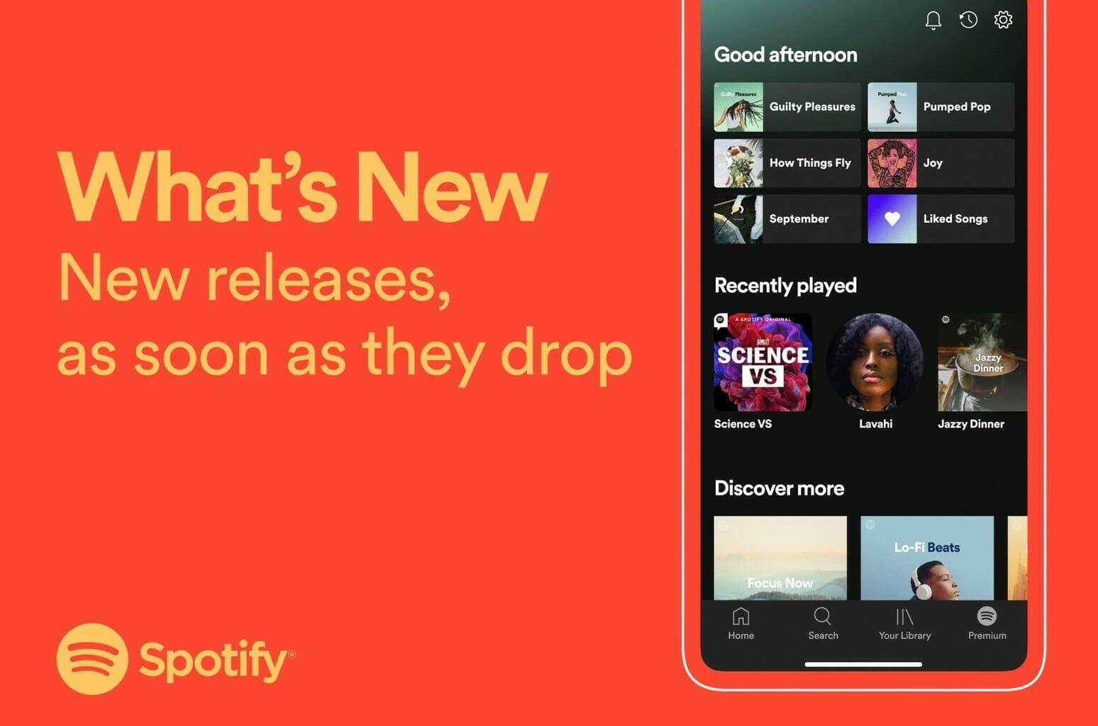 Spotify va avea un flux cu noutăţi legate de artiştii preferaţi